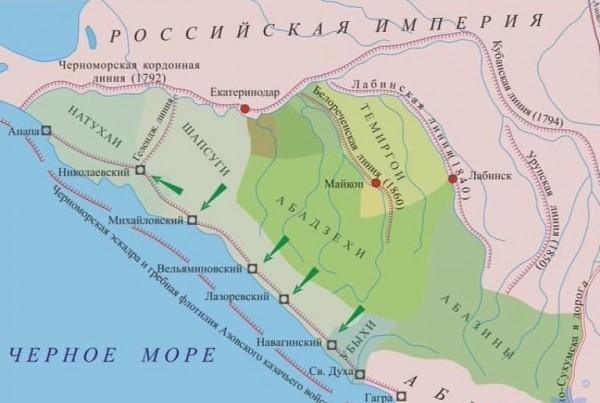 Основные укрепления Черноморской береговой линии. <br>